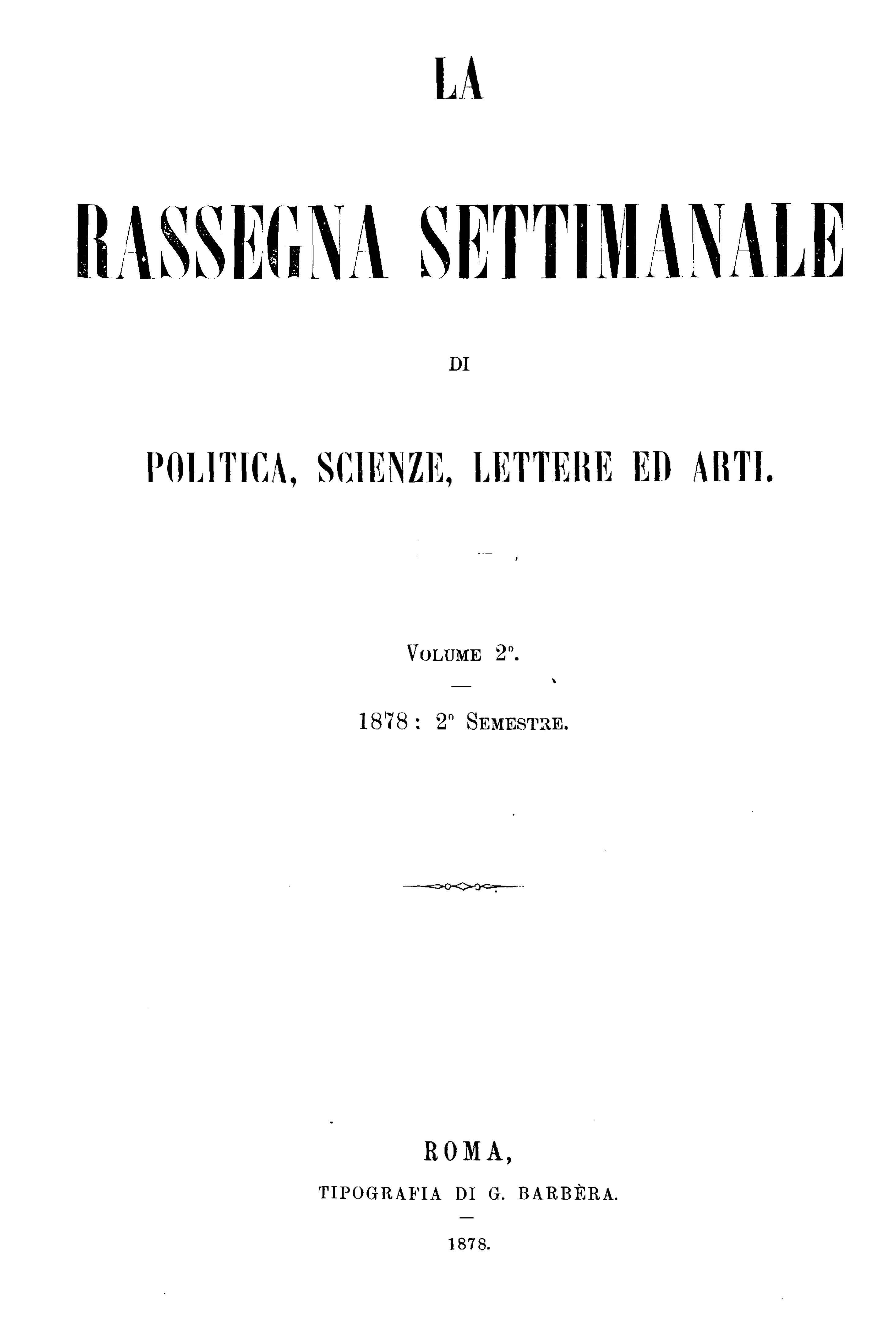 Fascicolo 36 - Volume 2 - 1878 - Semestre 2 - Trimestre 2