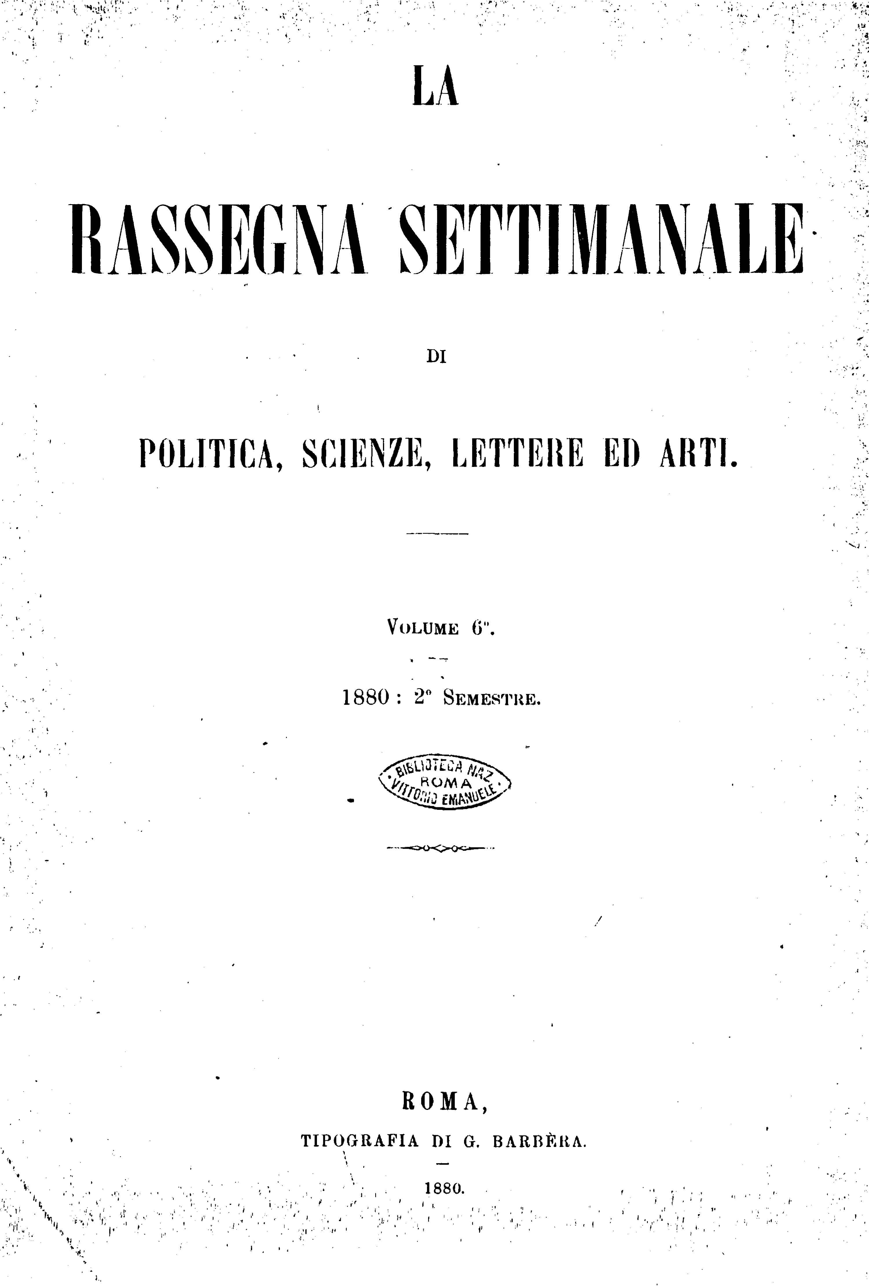 Fascicolo 133 - Volume 6 - 1880 - Semestre 2 - Trimestre 1